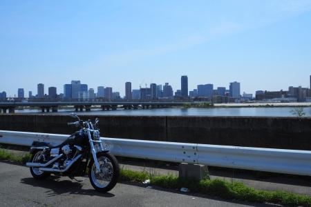 ぴーきち&ダイナ 舞洲夢洲ツーリング 淀川 川沿い 大阪市内
