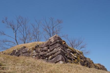 ぴーきち&ダイナ 紀伊半島ツーリング 三重県熊野市 赤木城跡 城石