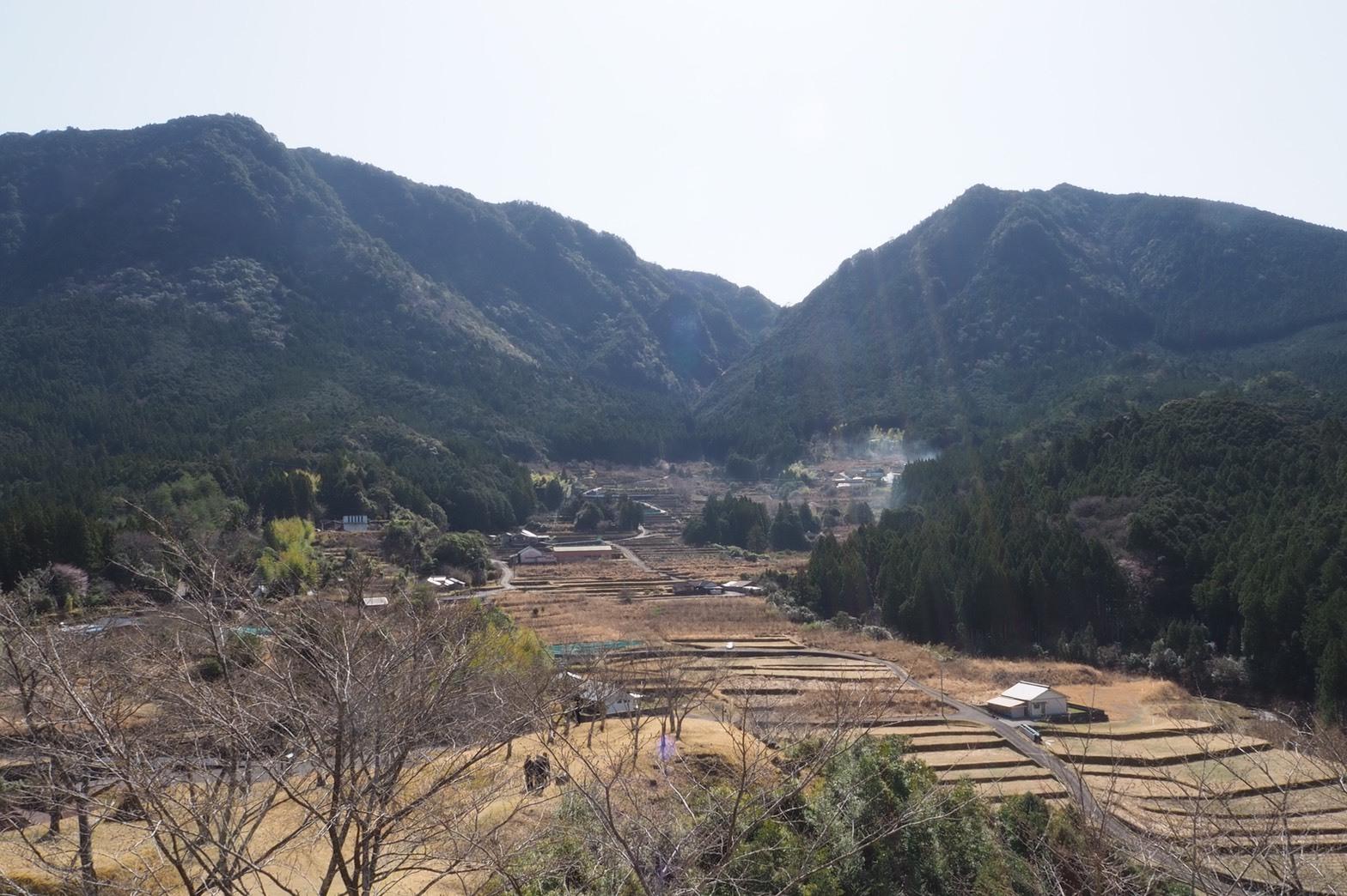 ぴーきち&ダイナ 紀伊半島ツーリング 三重県熊野市 赤木城跡 頂上の景色
