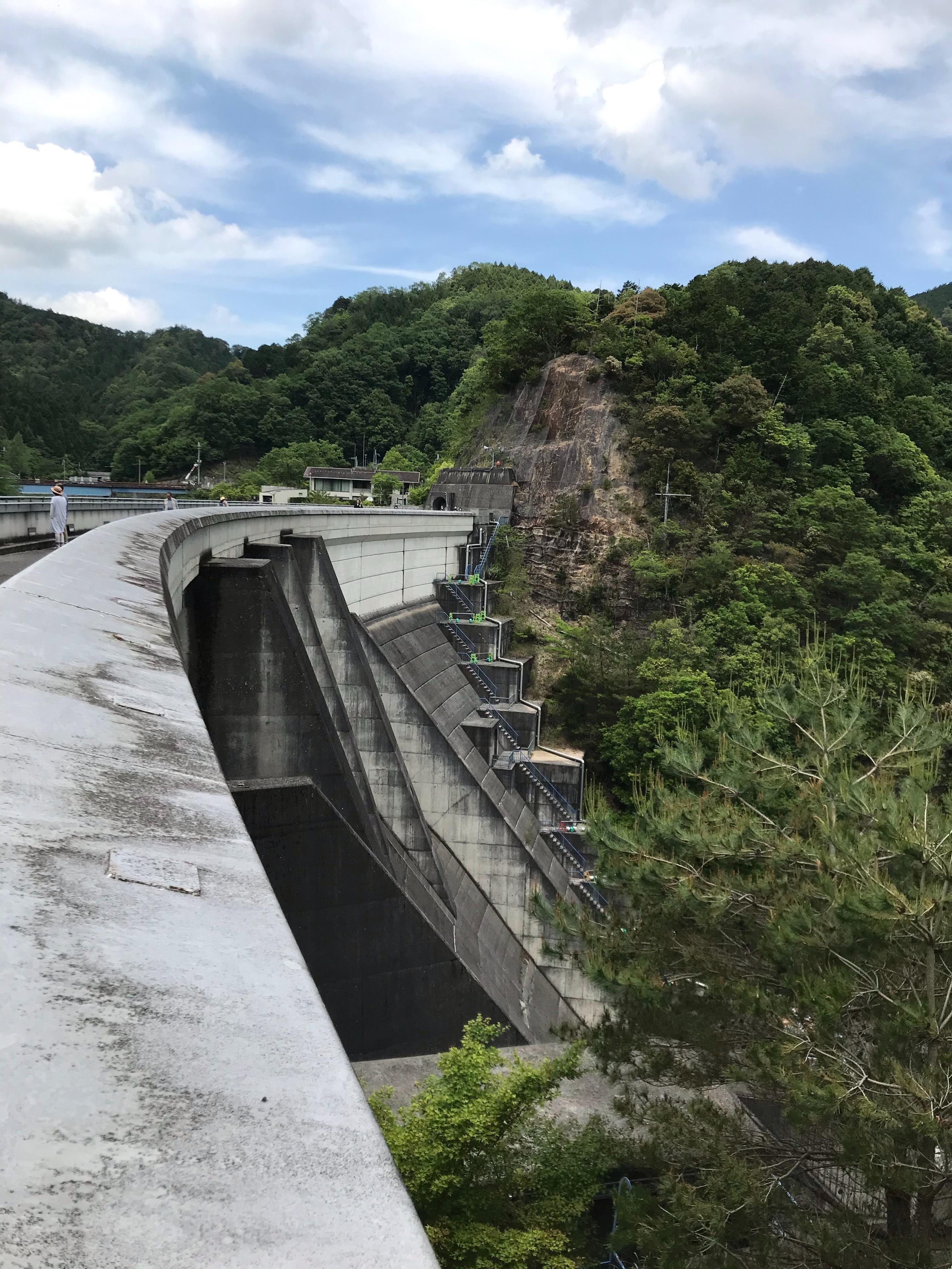ぴーきち&ダイナ 大阪ツーリング 南河内郡 滝畑ダム 堤体