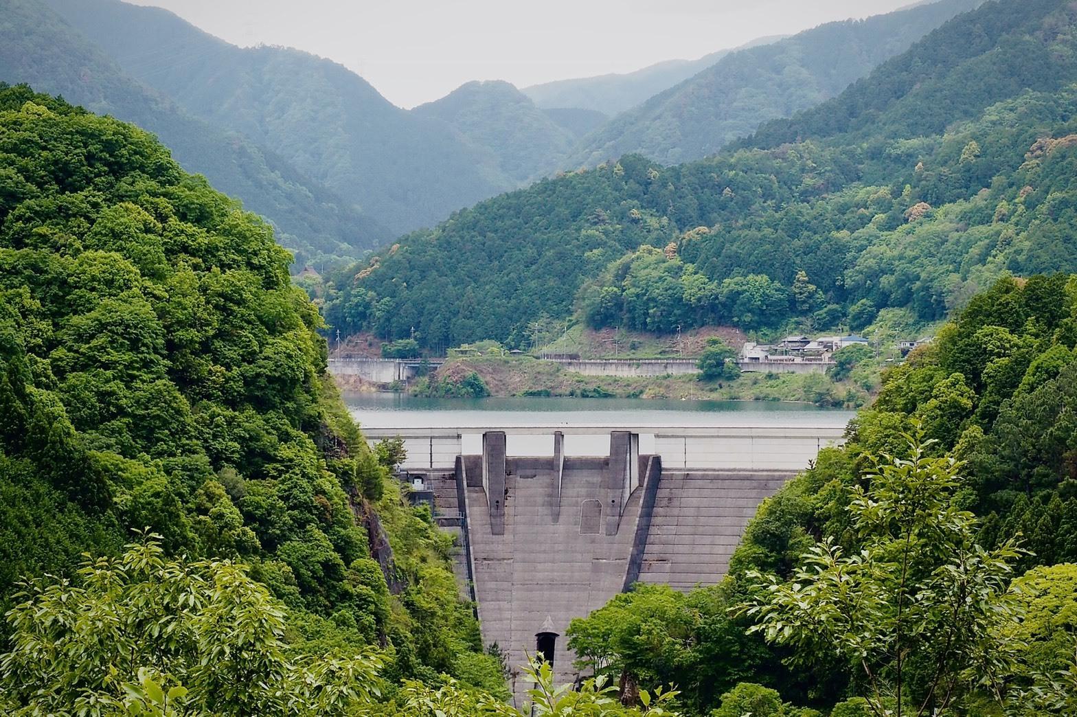 ぴーきち&ダイナ 大阪ツーリング 南河内郡 滝畑ダム 全景