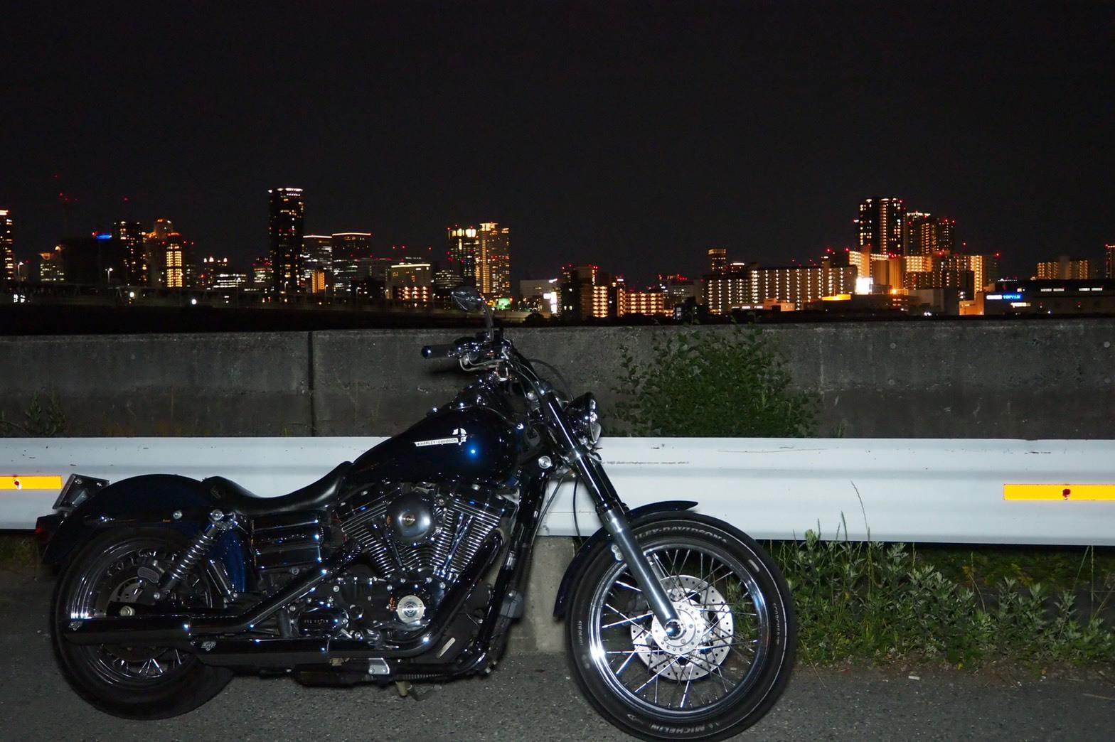 ぴーきち&ダイナ ハーレーブログ 大阪ツーリング ナイトバージョン 市内の夜景