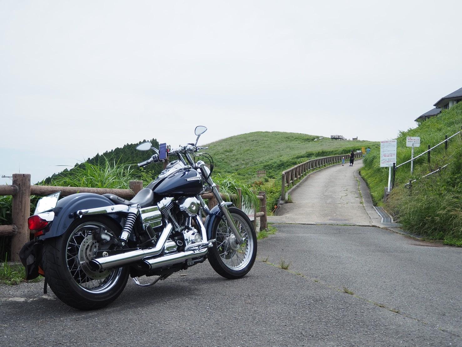 ぴーきち&ダイナ ハーレーブログ 和歌山有田ツーリング 生石高原 駐車場