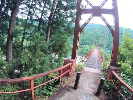 ぴーきち&ダイナ ハーレーブログ 和歌山有田ツーリング 蔵王橋 吊り橋