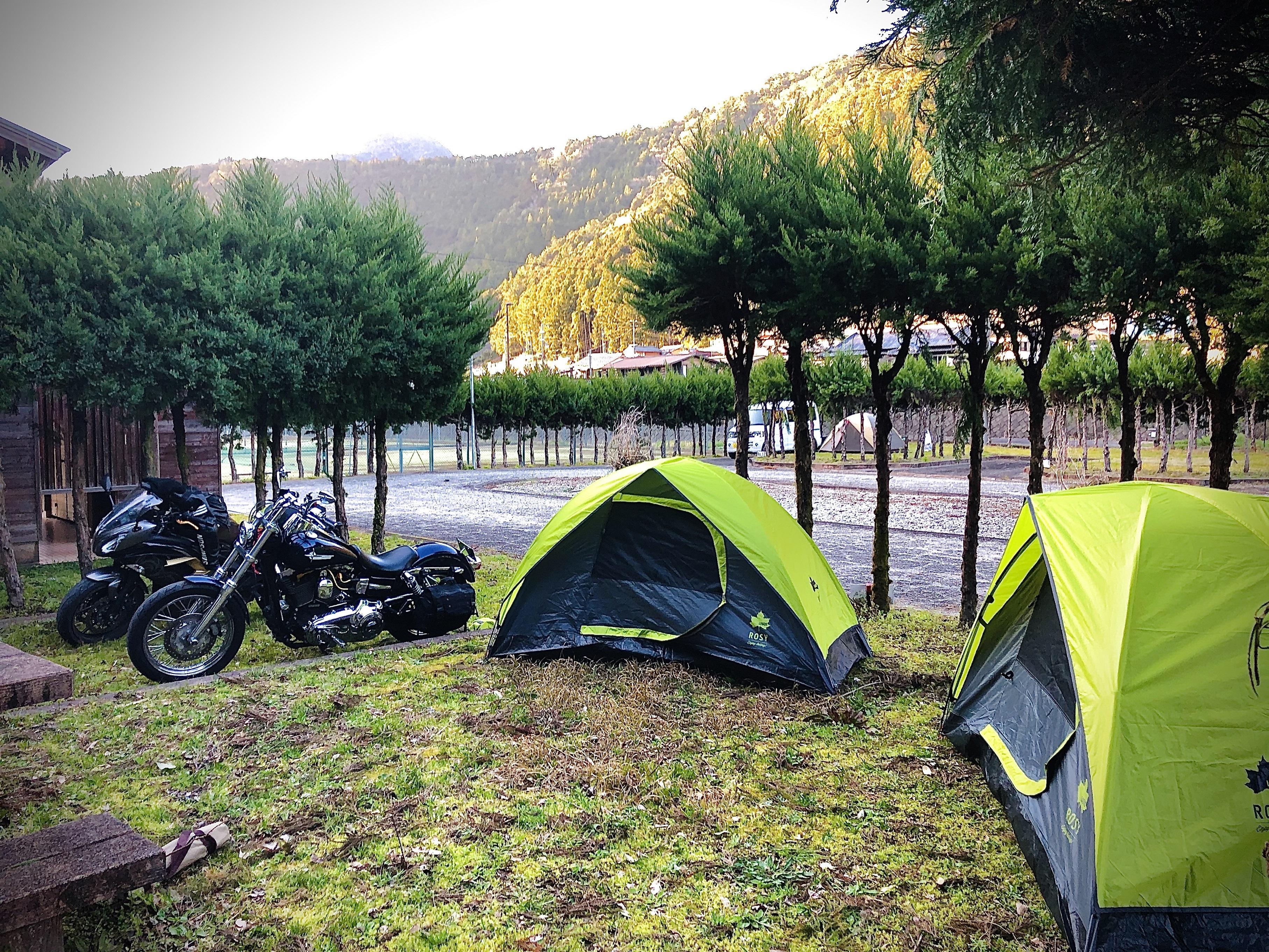 ぴーきち&ダイナ 紀伊半島ツーリング 和歌山県 おくとろ公園キャンプ場