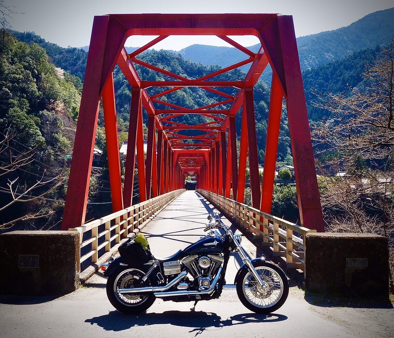 ぴーきち&ダイナ 紀伊半島ツーリング 169号線 吉野川 赤い鉄橋