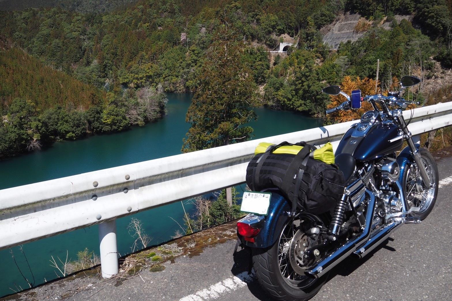 ぴーきち&ダイナ 紀伊半島ツーリング 169号線 吉野川の絶景とハーレー