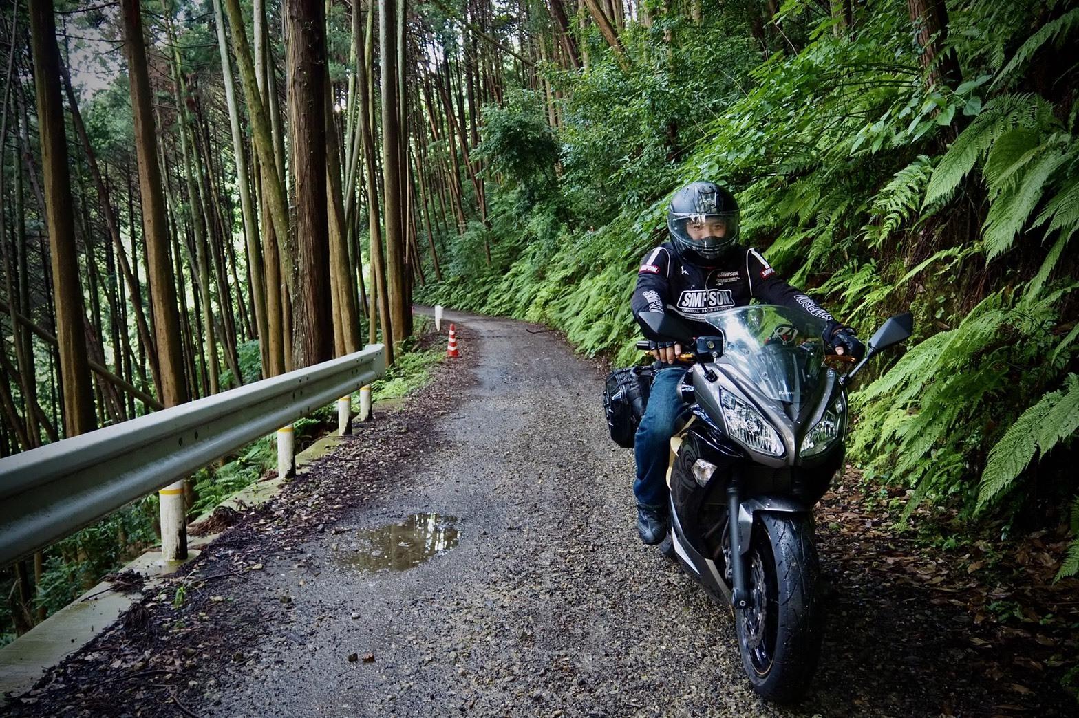 ぴーきち&ダイナ ハーレーブログ 京都 龍王の滝 悪路