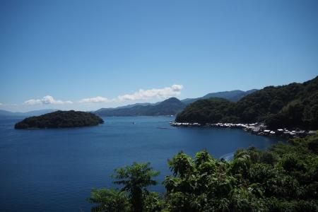 ぴーきち&ダイナ ハーレーブログ 京都丹後半島ツーリンング 伊根の舟屋 道の駅からの眺め