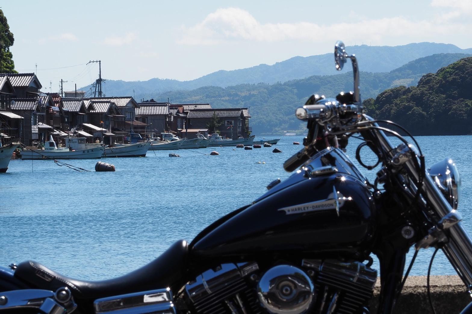 ぴーきち&ダイナ ハーレーブログ 京都丹後半島ツーリンング ハーレーと伊根の舟屋 景色