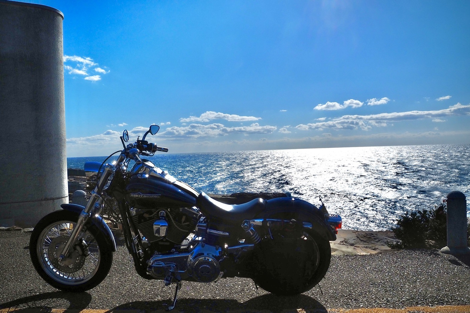 ぴーきち&ダイナ 和歌山南紀白浜ツーリング 千畳敷の美しい景色とハーレー