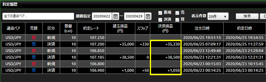 DMM FX20200622-20200627_約定