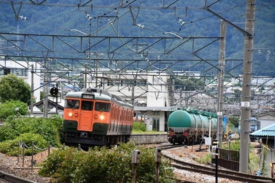2020年7月18日撮影 しなの鉄道 115系 S25編成 湘南色