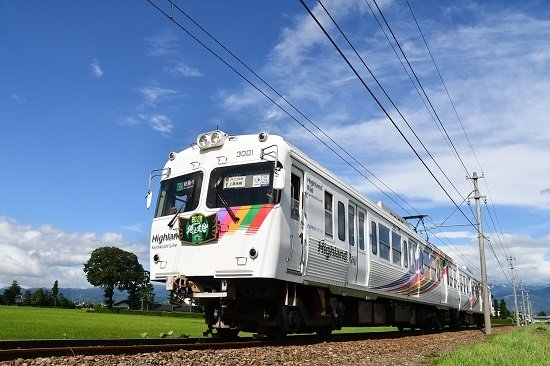 2020年7月18日撮影 アルピコ交通 3000形 松本山雅HM