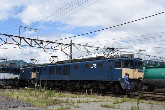 2020年7月12日撮影 南松本にて西線貨物5880レ機回し発車