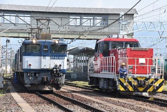 2020年8月22日撮影 南松本にてEF64とHD300