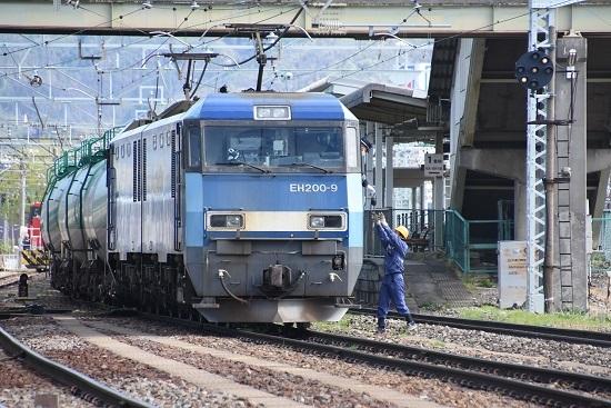 2020年5月4日撮影 南松本 東線貨物2080レ機回し 無線機返却