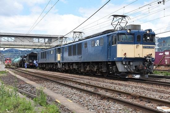 2020年7月12日撮影 南松本にて西線貨物5880レ機回し バック運転