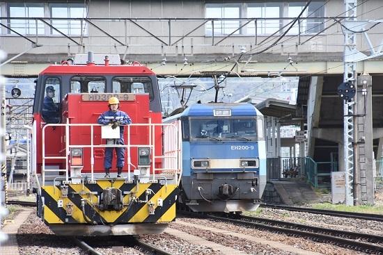 2020年5月4日撮影 南松本にてEH200-9号機とHD300-9号機