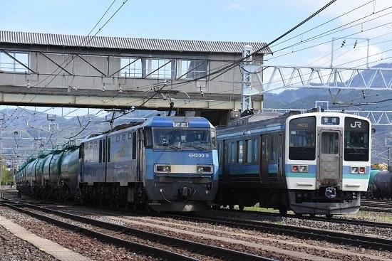 2020年5月4日撮影 南松本にてEH200-9号機と211系の並び