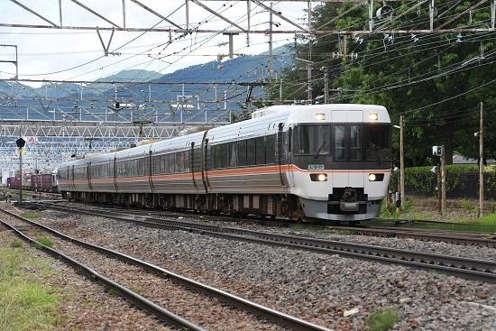 2020年7月12日撮影 南松本にて 1016M 383系 WVしなの16号