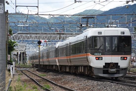 2020年7月12日撮影 南松本にて 1013M 383系 後撃ちにて付随車