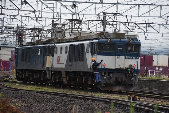 2020年7月18日撮影 南松本にて 篠ノ井線8467レ EF64-1017号機