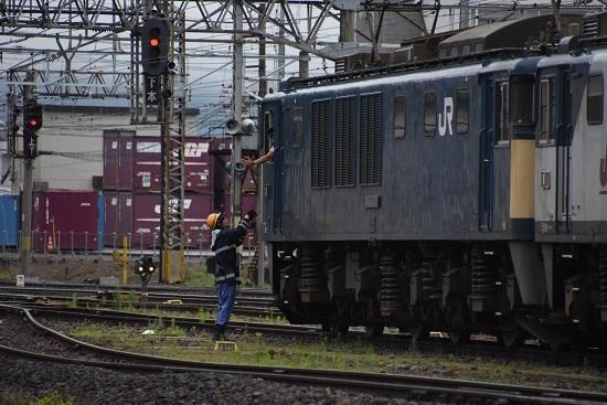 2020年7月18日撮影 南松本にて 篠ノ井線8467レ 無線機返却