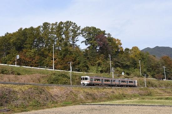 2020年11月1日撮影 飯田線 回送 313系と紅葉