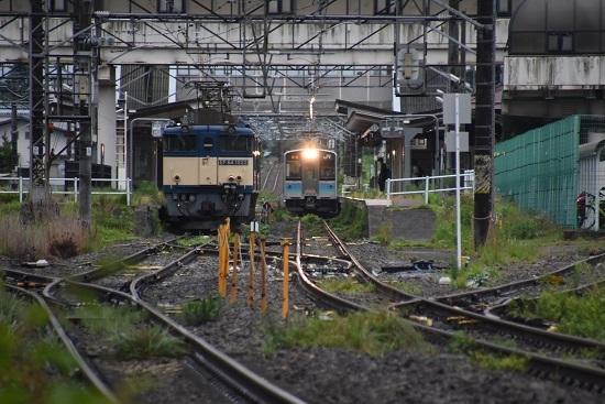 2020年7月18日撮影 篠ノ井線8467レ 明科駅 EF64-1022号機とE127系