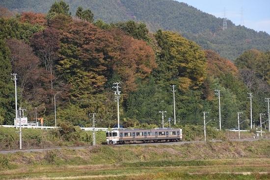 2020年11月1日撮影 飯田線1415M 313系と紅葉