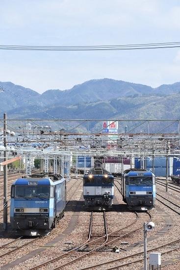 2020年5月5日撮影 南松本にてEH200-6号機、9号機と西線貨物8084レ EF64-1010号機