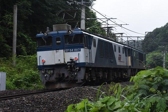 2020年7月18日撮影 篠ノ井線8467レ 後撃ちにて EF64-1017号機
