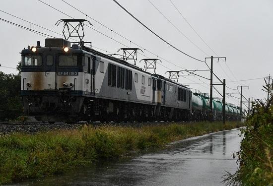 2020年10月8日撮影 西線貨物6088レ EF64-1013+1033号機