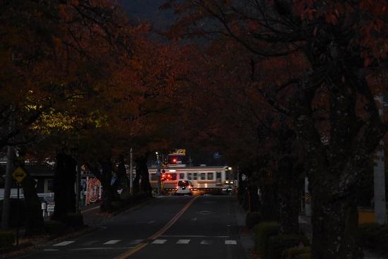 2020年11月7日撮影 飯田線 宮木の桜並木と213系 回送