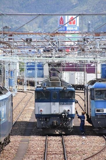 2020年5月5日撮影 南松本にて西線貨物8084レ機回し 無線機を渡す