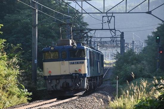 2020年8月30日撮影 篠ノ井線8467レ 西条トンネル出口 後撃ち