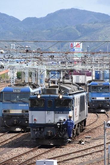 2020年5月5日撮影 南松本にて西線貨物8084レ機回し発車