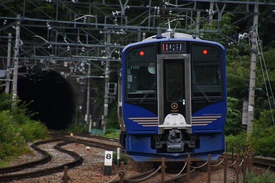 2020年7月18日撮影 しなの鉄道 6601M SR-1系 S103編成 軽井沢リゾート1号を後撃ち
