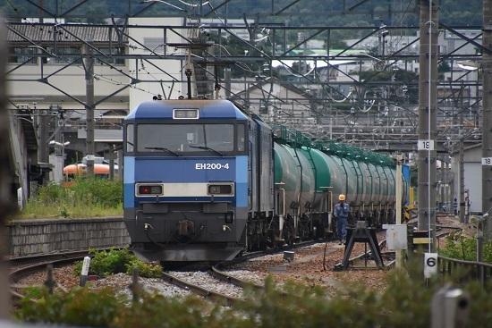 2020年7月18日撮影 しなの鉄道 坂城駅 EH200-4号機と緑タキ11両