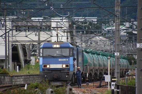 2020年7月18日撮影 しなの鉄道 坂城駅 EH200-4号機とメモを渡す