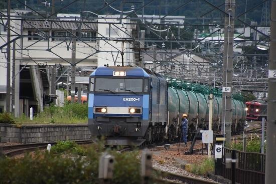 2020年7月18日撮影 しなの鉄道 坂城駅 EH200-4号機と緑タキ連結