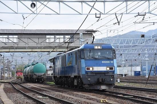 2020年5月6日撮影 南松本にて東線貨物2080レ EH200-10号機機回し