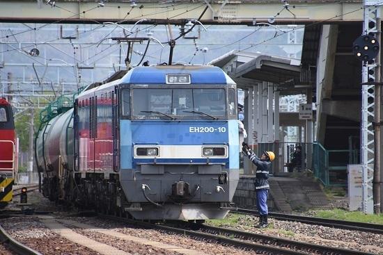 2020年5月6日撮影 南松本にて東線貨物2080レ EH200-10号機無線機返却