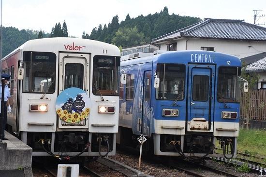 2020年8月30日乗車 明智駅にてアケチ11とアケチ12