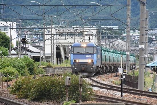 2020年7月18日撮影 しなの鉄道 坂城貨物85レ 発車