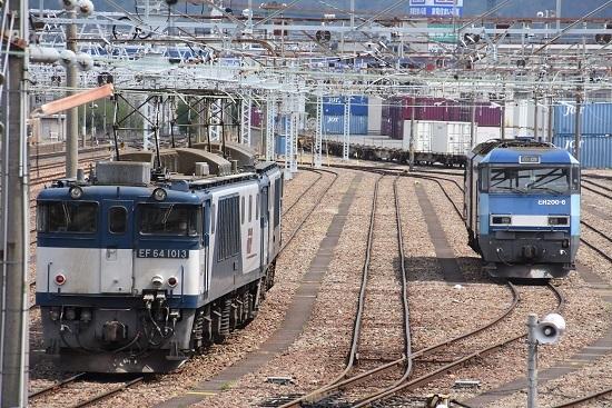 2020年5月6日撮影 南松本にて 西線貨物8084レとEH200-6号機