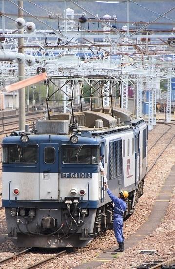 2020年5月6日撮影 南松本にて 西線貨物8084レ機回し 無線機渡し