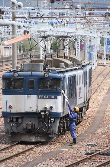 2020年5月6日撮影 南松本にて 西線貨物8084レ機回し メモ渡し