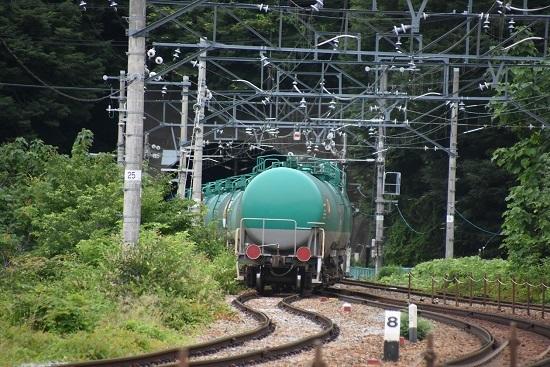 2020年7月18日撮影 しなの鉄道 坂城貨物85レ 緑タキのお尻